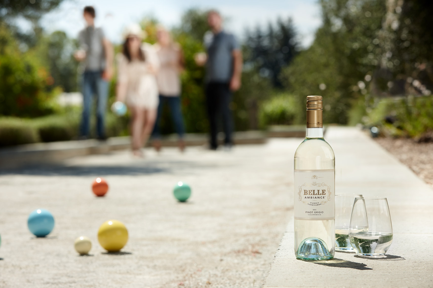 AlanCampbellPhotography, Bocce lifetyle game in wine country.
