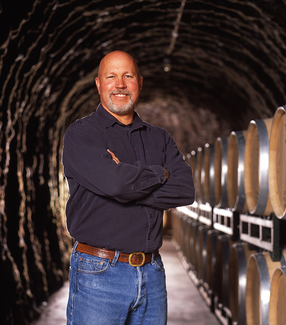 AlanCampbellPhotography, winemaker shot in cave