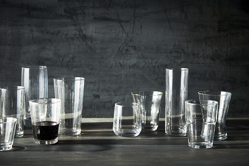 AlanCampbellPhotography, still life with vintage glasses on grey