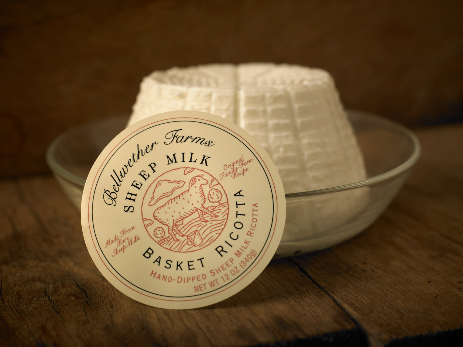 AlanCampbellPhotography, product shot of Bellwether Farms Ricotta