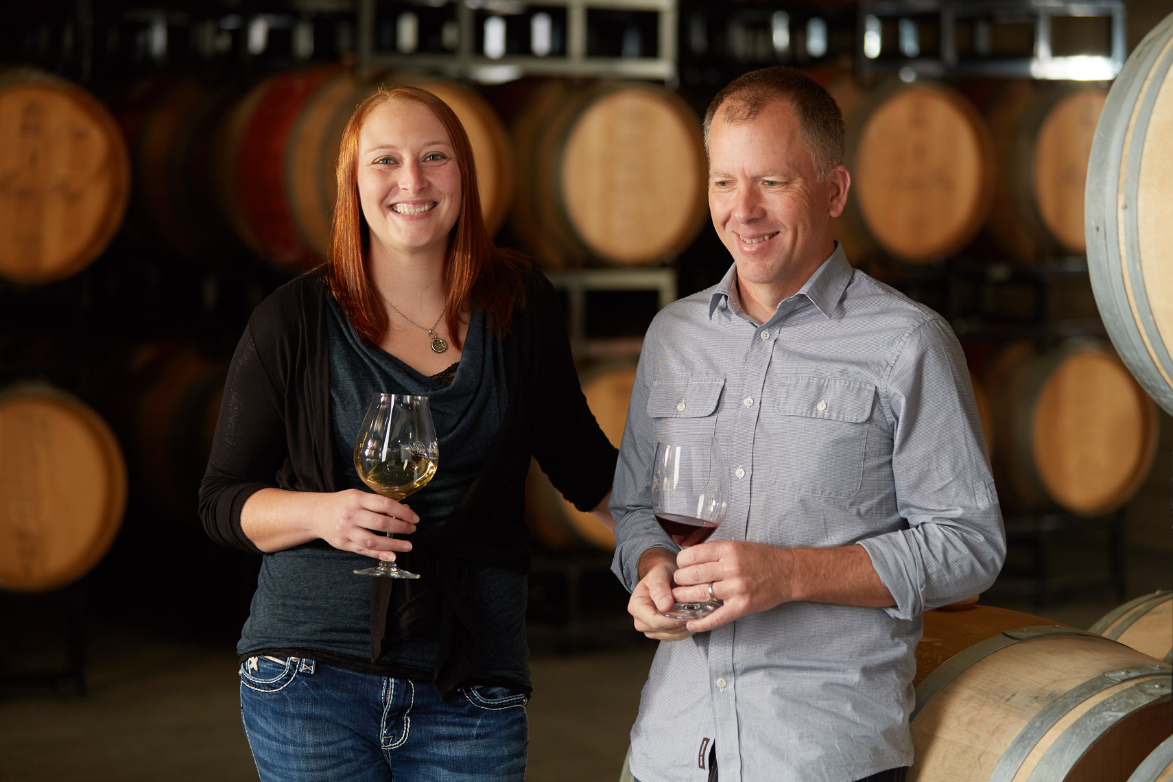 AlanCampbellPhotography, Winemakers in the barrel room