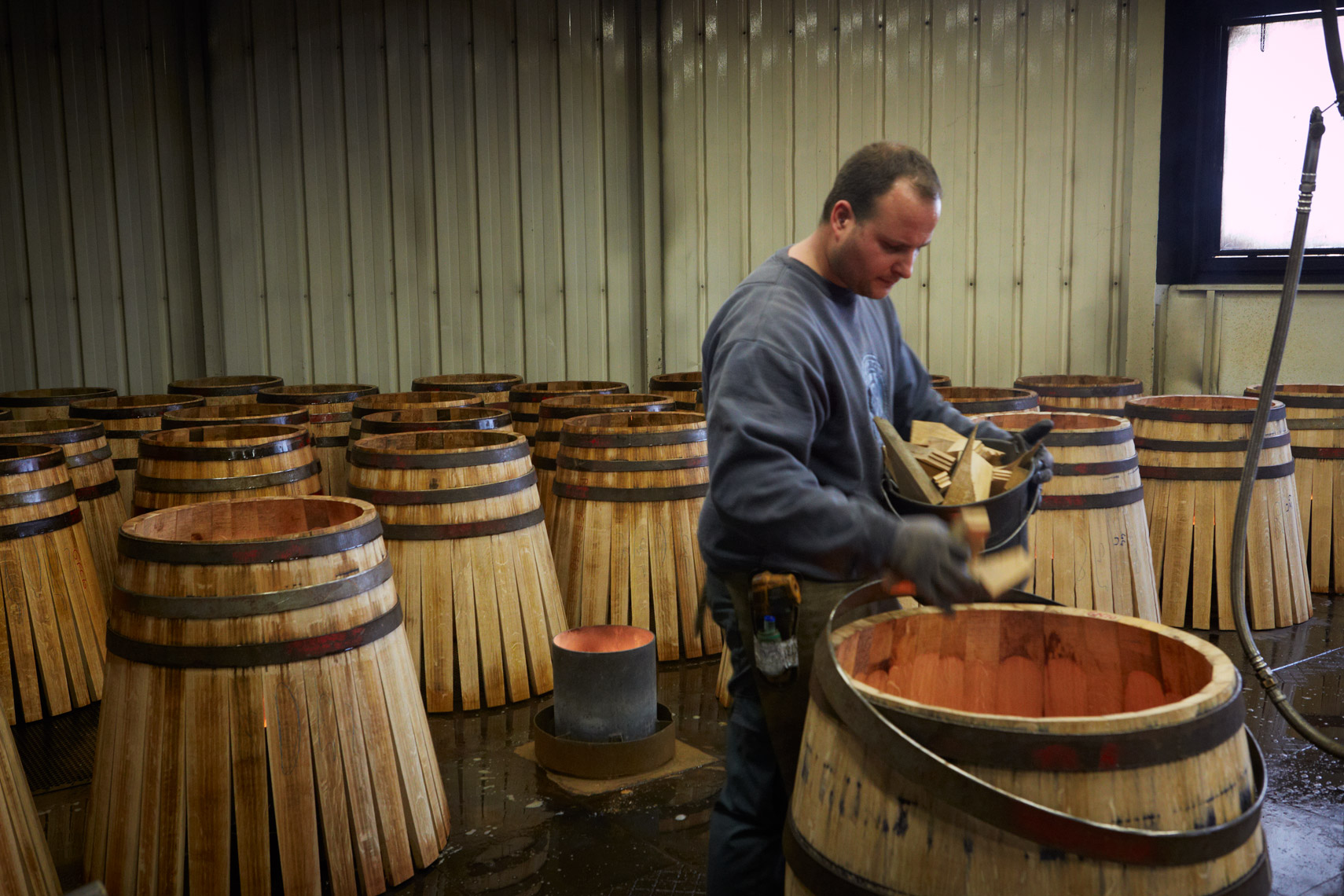 AlanCampbellPhotography, coopers toasting barrels